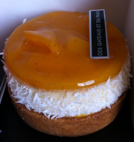 claire damon, j'adore la fraise, tarte mangue vanille coco