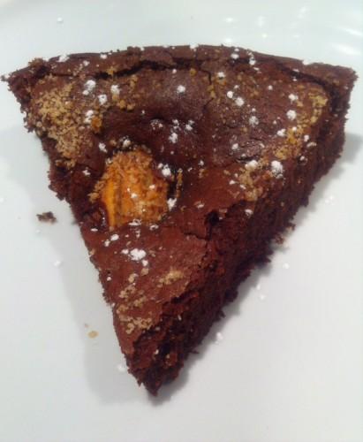 gâteau, chocolat noir valrhona, poires