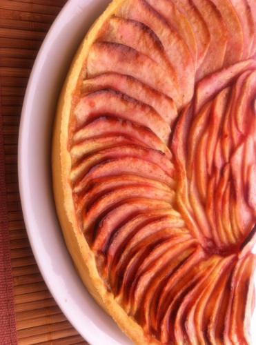 tarte, pommes, compote, vanille, pâte brisée, thermomix