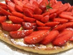 tarte aux fraises, tarte, fraise, fraises, pâte sucrée, pâte sablée, crème pâtissière, vanille, thermomix
